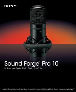 Программа записи и обработки вокала Sony Sound Forge Pro 10 RUS
